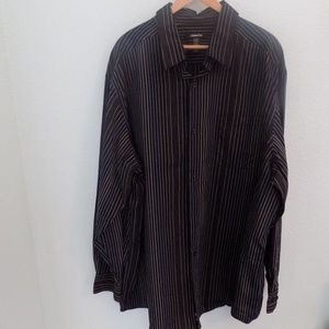 Claiborne Long Sleeve Strip Dress Shirt 3XLT
